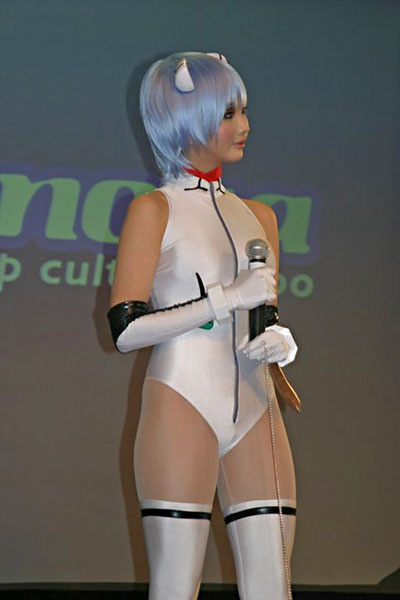 Alodia Cosplays Rei from Evangelion