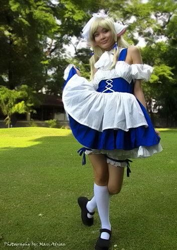 Filipina Cosplayer Jerry Polence as Chii from Chobits