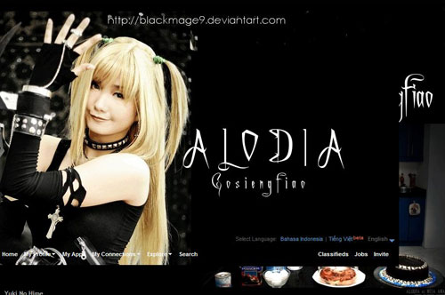 Alodia Friendster Layout