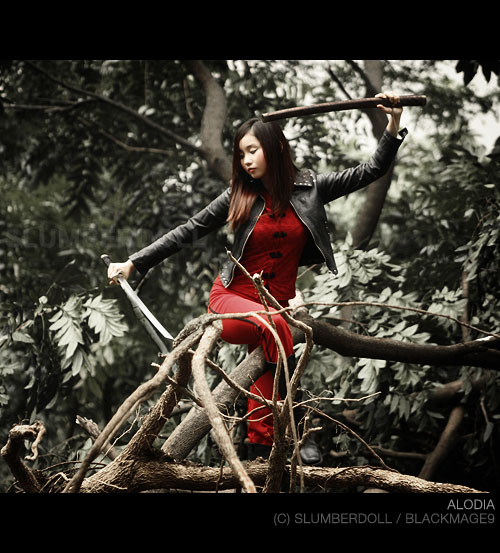 Alodia Gosiengfiao with Sword