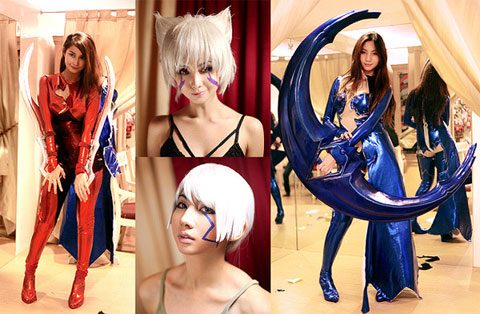 Alodia and Ashley Gosiengfiao Witchblade Cosplay