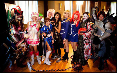 Cosplayers at Ani-Mates press conference.