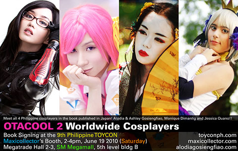 Filipina cosplayers Alodia Gosiengfiao, Ashley Gosiengfiao, Monique Dimanlig, and Jessica Ouano.