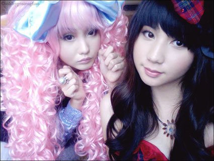Filipina cosplay sisters Alodia Gosiengfiao and Ashley Gosiengfiao portray Miwako and Caroline from the hit anime series Paradise Kiss.