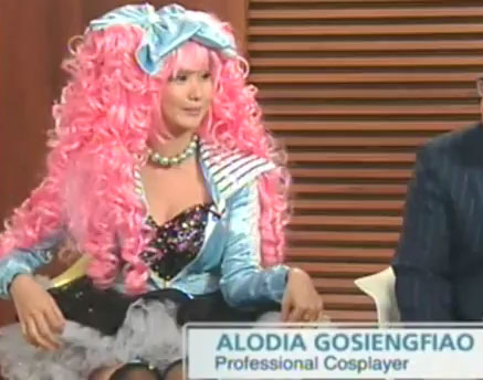 Professional cosplayer Alodia Gosiengfiao interviewed on Channel News Asia.