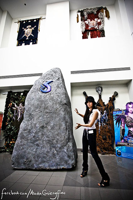 Filipina cosplay queen Alodia Gosiengfiao visits the headquarters of Blizzard Entertainment, creators of the Warcraft video game franchise.