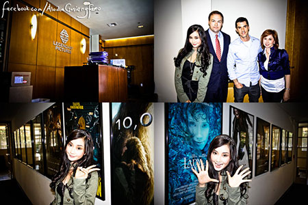 Filipina cosplay queen Alodia Gosiengfiao visits Legendary Pictures after Comic-Con to talk about the upcoming Warcraft movie. Photo via Alodia.