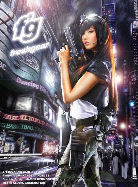 Filipina gamer girl Alodia Gosiengfiao models Freego Freshgear jeans.