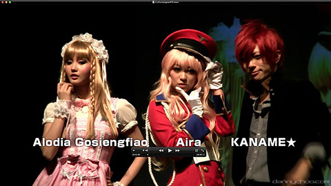 Cosplayers Alodia, Aira, and Kaname appear at Anime Festival Asia 2010 on Culture:Japan.