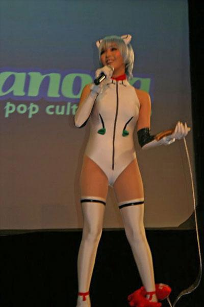 Alodia Cosplays Rei from Evangelion